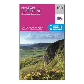 Landranger 100 Malton & Pickering, Helmsley & Easingwold Map With Digital Version