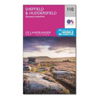 Landranger 110 Sheffield & Huddersfield, Glossop & Holmfirth Map With Digital Version