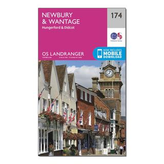 Landranger 174 Newbury & Wantage, Hungerford & Didcot Map With Digital Version