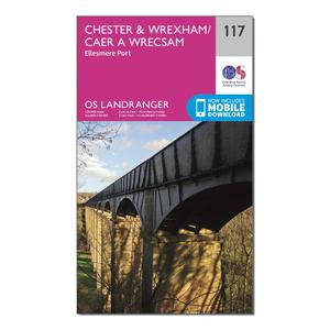 ORDNANCE SURVEY Landranger 117 Chester & Wrexham, Ellesmere Port Map With Digital Version