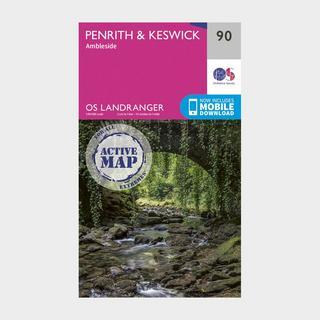 Landranger Active 90 Penrith, Keswick & Ambleside Map With Digital Version