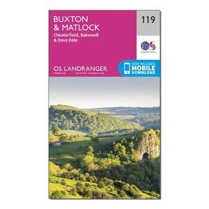 ORDNANCE SURVEY Landranger 119 Buxton, Matlock, Bakewell & Dove Dale Map With Digital Version