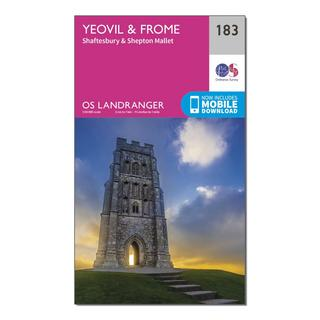 Landranger 183 Yeovil & Frome Map With Digital Version