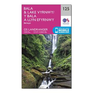 Landranger 125 Bala & Lake Vyrnwy, Berwyn Map With Digital Version
