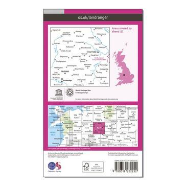 Orange Ordnance Survey Landranger 127 Stafford & Telford, Ironbridge Map With Digital Version