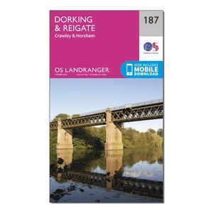 ORDNANCE SURVEY Landranger 187 Dorking, Reigate & Crawley Map With Digital Version