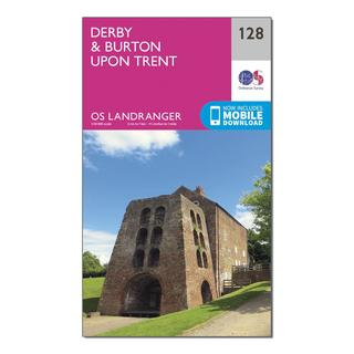 Landranger 128 Derby & Burton upon Trent Map With Digital Version
