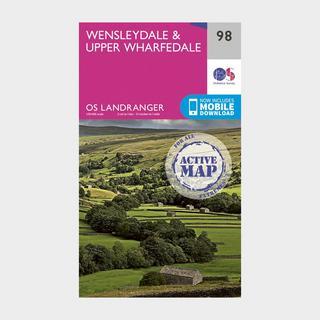 Landranger Active 98 Wensleydale & Upper Wharfedale Map With Digital Version
