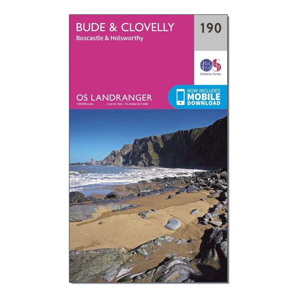 ORDNANCE SURVEY Landranger 190 Bude & Clovelly, Boscastle & Holsworthy Map With Digital Version
