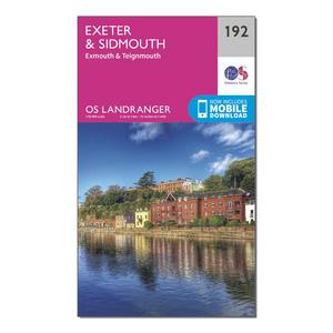 ORDNANCE SURVEY Landranger 192 Exeter & Sidmouth, Exmouth & Teignmouth Map With Digital Version