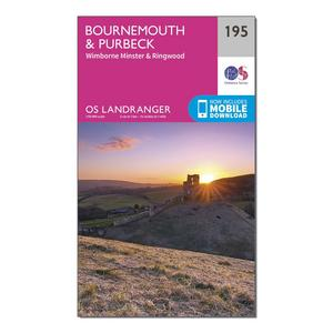 ORDNANCE SURVEY Landranger 195 Bournemouth & Purbeck, Wimborne Minster & Ringwood Map With Digital Version