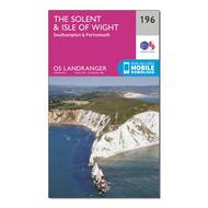 Landranger 196 The Solent & the Isle of Wight, Southampton & Portsmouth Map With Digital Version