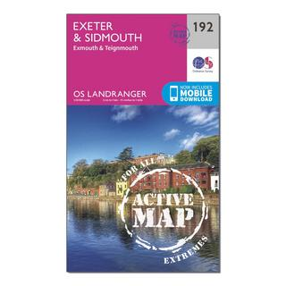 Landranger Active 192 Exeter & Sidmouth, Exmouth & Teignmouth Map With Digital Version