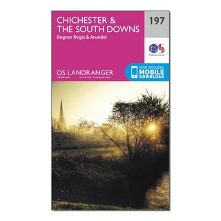 Landranger 197 Chichester & The South Downs Map With Digital Version