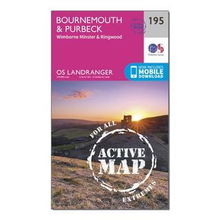 Landranger Active 195 Bournemouth & Purbeck, Wimborne Minster & Ringwood Map With Digital Version