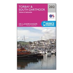 ORDNANCE SURVEY Landranger 202 Torbay & South Dartmoor, Totnes & Salcombe Map With Digital Version