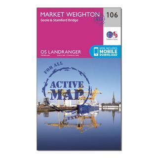Landranger Active 106 Market Weighton, Goole & Stamford Bridge Map With Digital Version