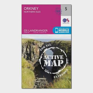 Landranger Active 5 Orkney  Northern Isles Map With Digital Version