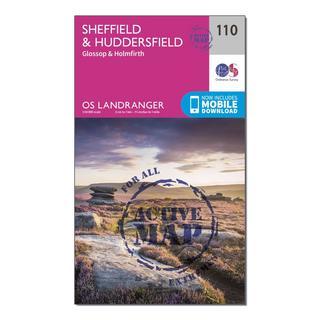 Landranger Active 110 Sheffield & Huddersfield, Glossop & Holmfirth Map With Digital Version