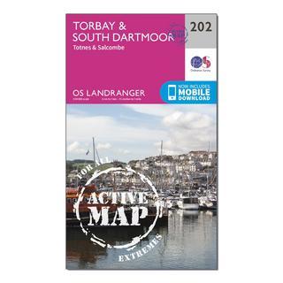 Landranger Active 202 Torbay, South Darrmoor, Totnes & Salcombe Map With Digital Version