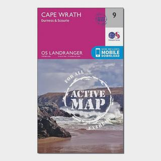 Landranger Active 9 Cape Wrath, Durness & Scourie Map With Digital Version