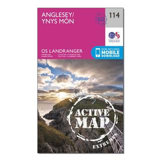 Landranger Active 114 Anglesey Map With Digital Version