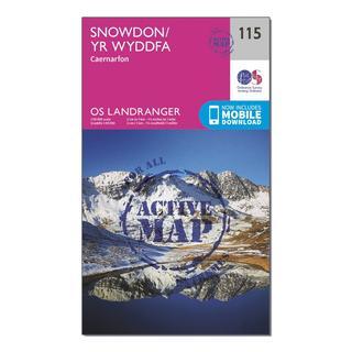 Landranger Active 115 Snowdon & Caernarfon Map With Digital Version
