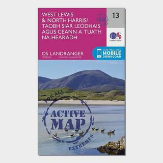 Landranger Active 13 West Lewis & North Harris Map With Digital Version