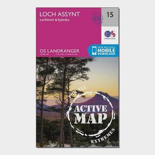 Landranger Active 15 Loch Assynt, Lochinver & Kylesku Map With Digital Version