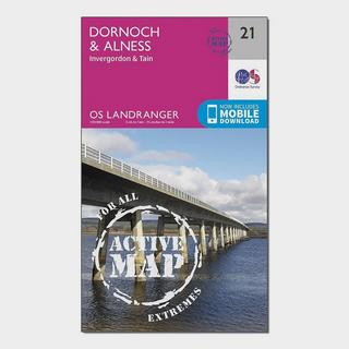 Landranger Active 21 Dornoch & Alness, Invergordon & Tain Map With Digital Version