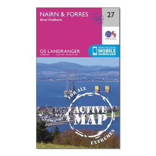 Landranger Active 27 Nairn & Forres, River Findhorn Map With Digital Version