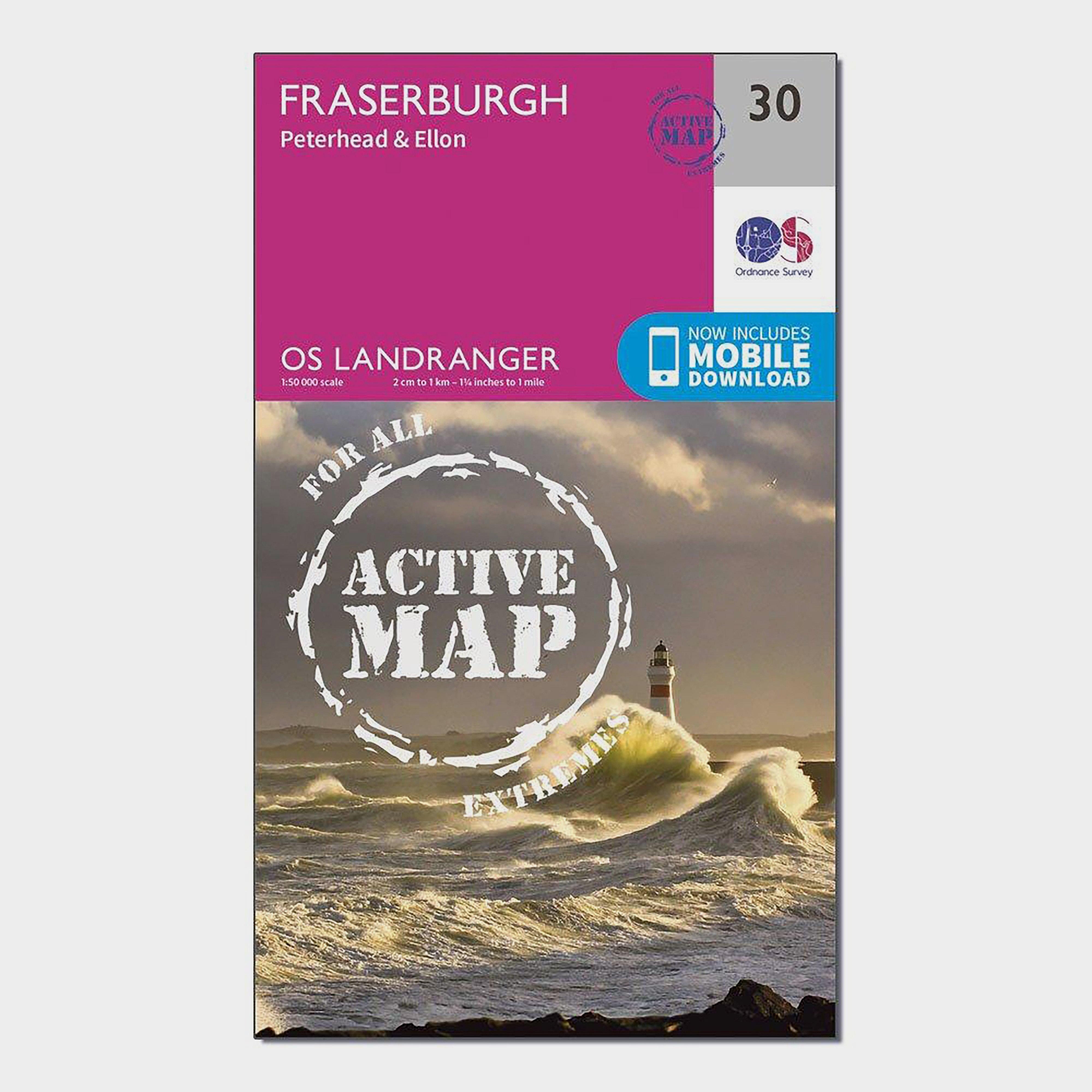 Ordnance Survey Ordnance Survey Landranger Active 30 Fraserburgh, Peterhead & Ellon Map With Digital Version - Orange, Orange
