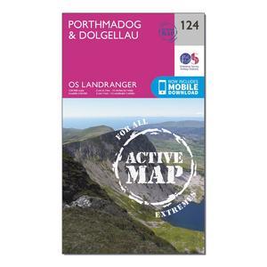 ORDNANCE SURVEY Landranger Active 124 Porthmadog & Dolgellau Map With Digital Version