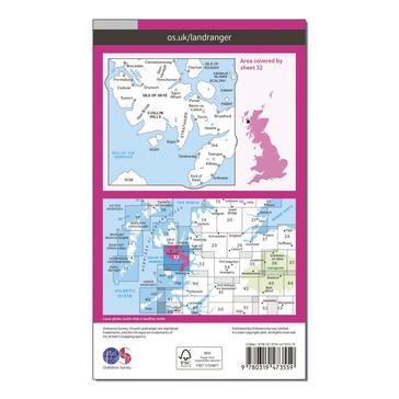 Orange Ordnance Survey Landranger Active 32 South Skye & Cuillin Hills Map With Digital Version