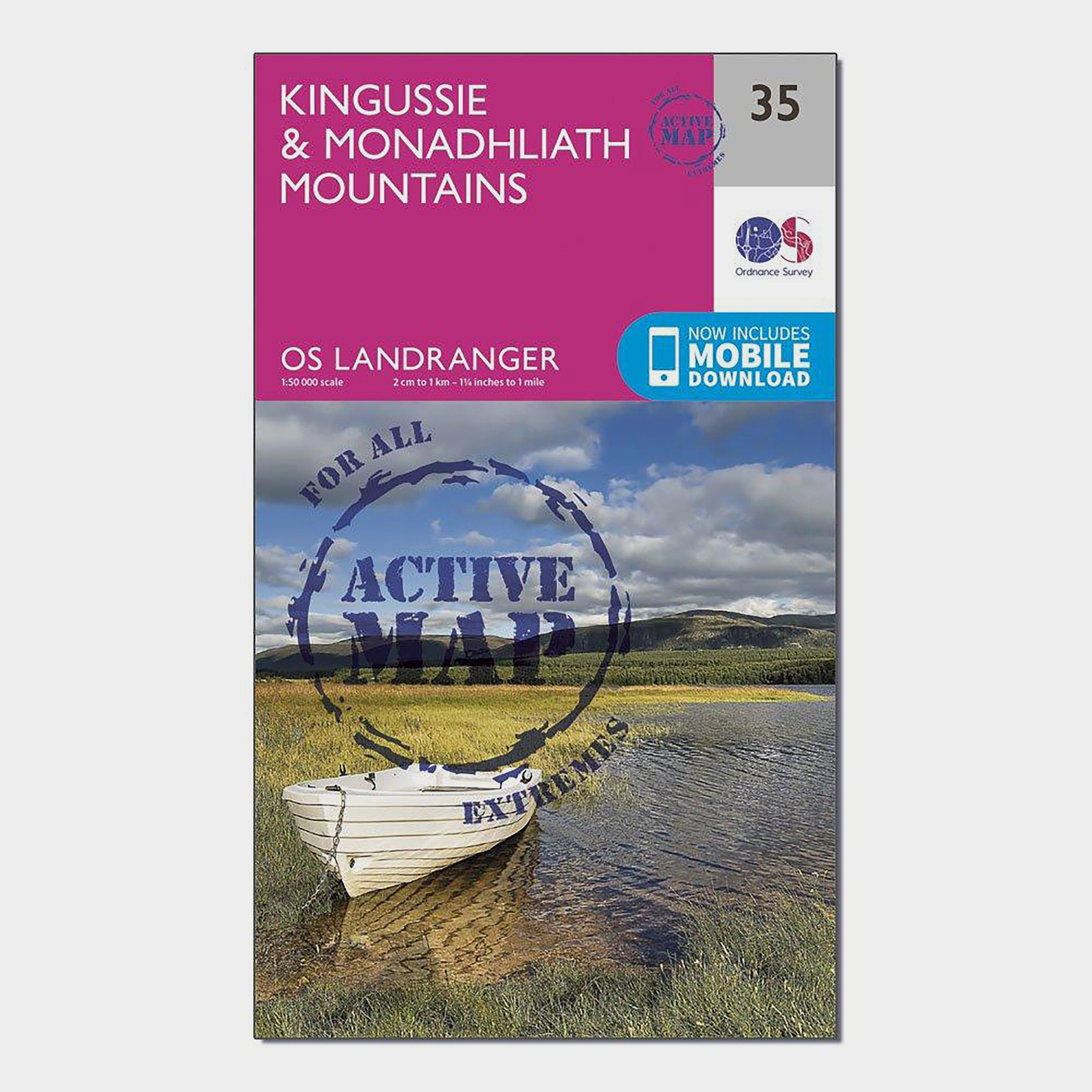 ORDNANCE SURVEY Landranger Active 35 Kingussie & Monadhliath Mountains Map With Digital Version