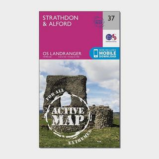 Landranger Active 37 Strathdon & Alford Map With Digital Version