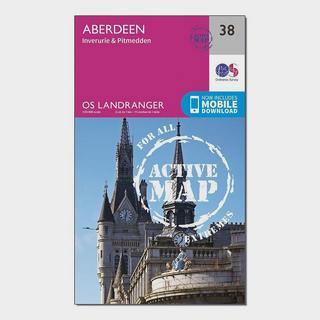 Landranger Active 38 Aberdeen, Inverurie & Pitmedden Map With Digital Version