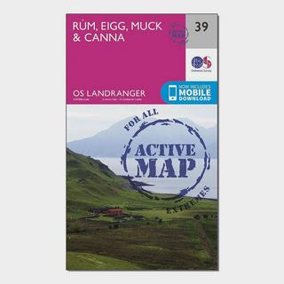 Landranger Active 39 Rum, Eigg & Muck Map With Digital Version