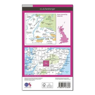 Orange Ordnance Survey Landranger Active 42 Glen Garry & Loch Rannoch Map With Digital Version