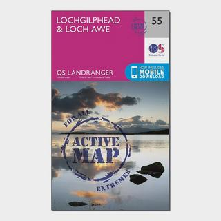 Landranger Active 55 Lochgilphead & Loch Awe Map With Digital Version