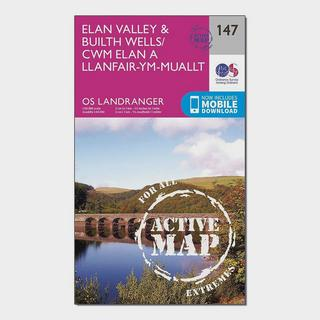 Landranger Active 147 Elan Valley & Builth Wells Map With Digital Version