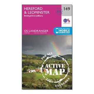 Landranger Active 149 Hereford & Leominster, Bromyard & Ledbury Map With Digital Version