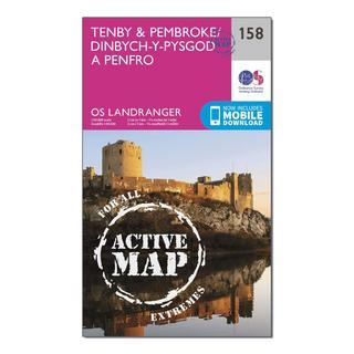 Landranger Active 158 Tenby & Pembroke Map With Digital Version