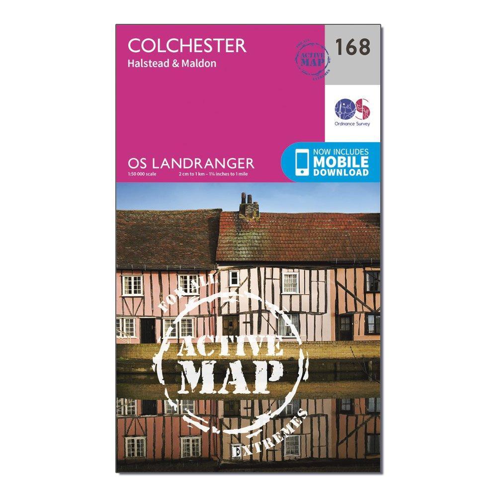 Ordnance Survey Ordnance Survey Landranger Active 168 Colchester, Halstead & Maldon Map With Digital Version - Orange, Orange