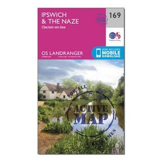 Landranger Active 169 Ipswich, The Naze & Clacton-on-Sea Map With Digital Version