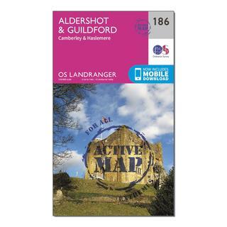 Landranger Active 186 Aldershot & Guildford, Camberley & Haslemere Map With Digital Version