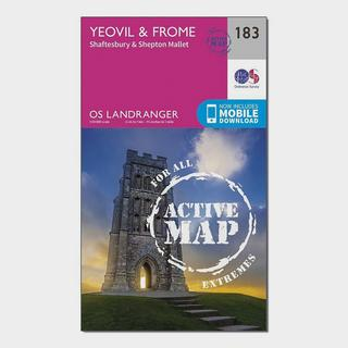 Landranger Active 183 Yeovil & Frome Map With Digital Version