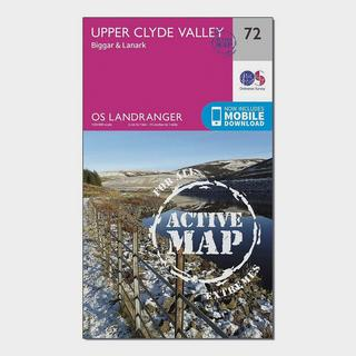 Landranger Active 72 Upper Clyde Valley, Biggar & Lanark Map With Digital Version