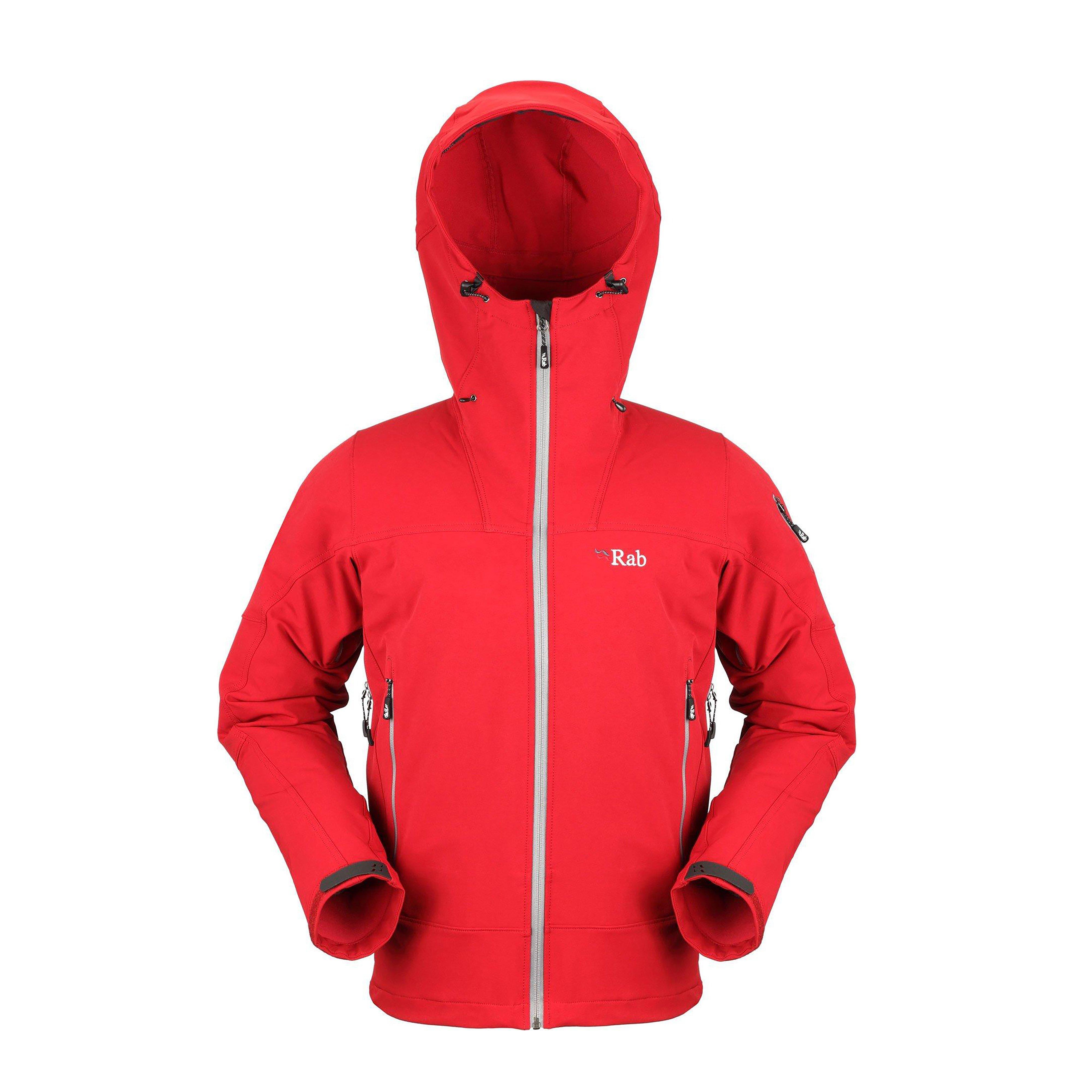 Mens red rab jacket