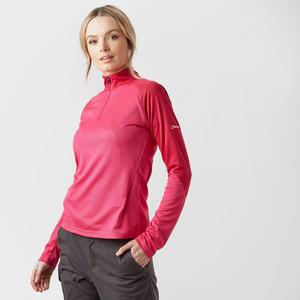 BERGHAUS Women's Tech LS Zip Tee 2.0